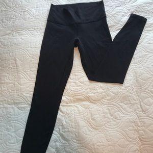 Lululemon Black Long WunderWear leggings. Size 8